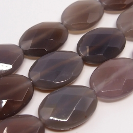 Chalcedony faceted Oval 25/18mm Cord 16pcs